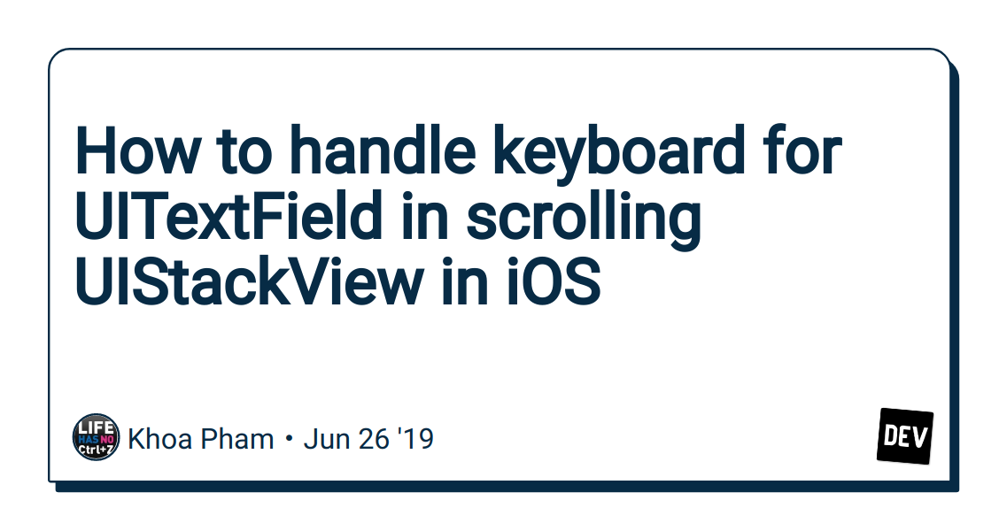 How to handle keyboard for UITextField in scrolling