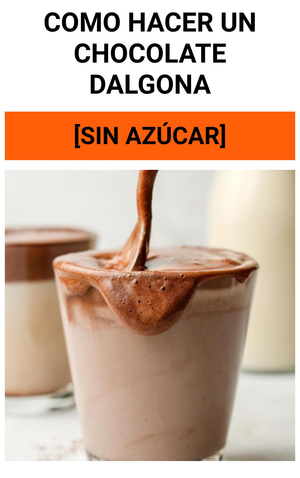 Como hacer un CHOCOLATE DALGONA