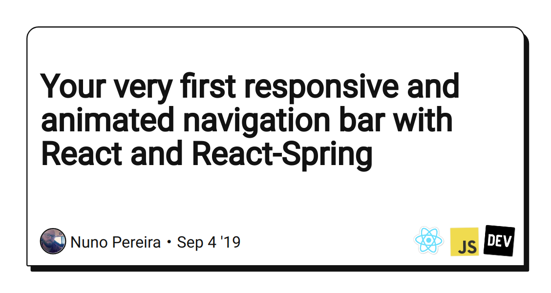 Your very first responsive and animated navigation bar with