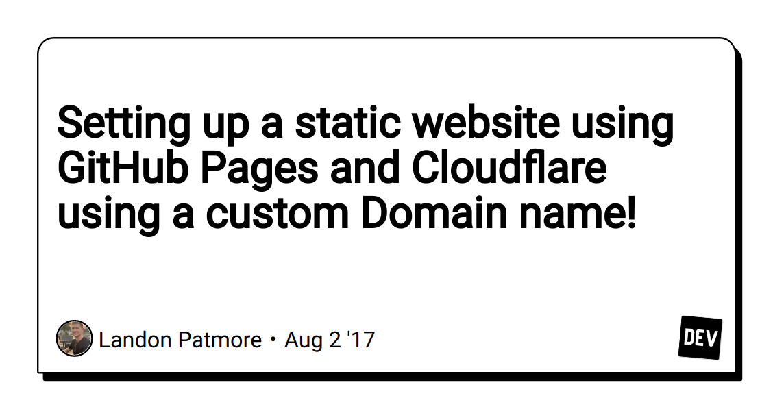 Setting up a static website using GitHub Pages and
