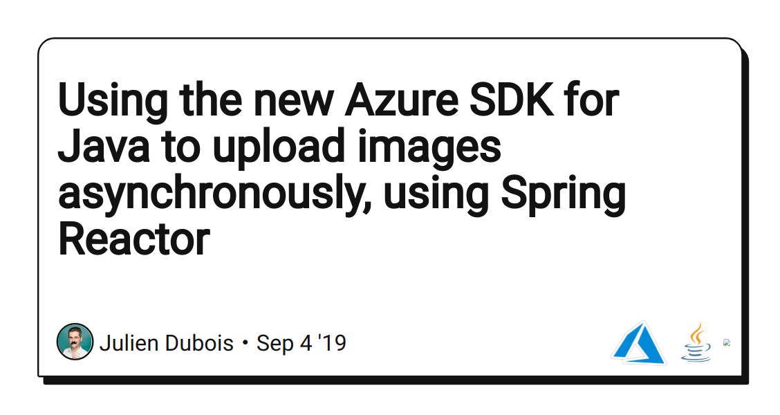Using the new Azure SDK for Java to upload images