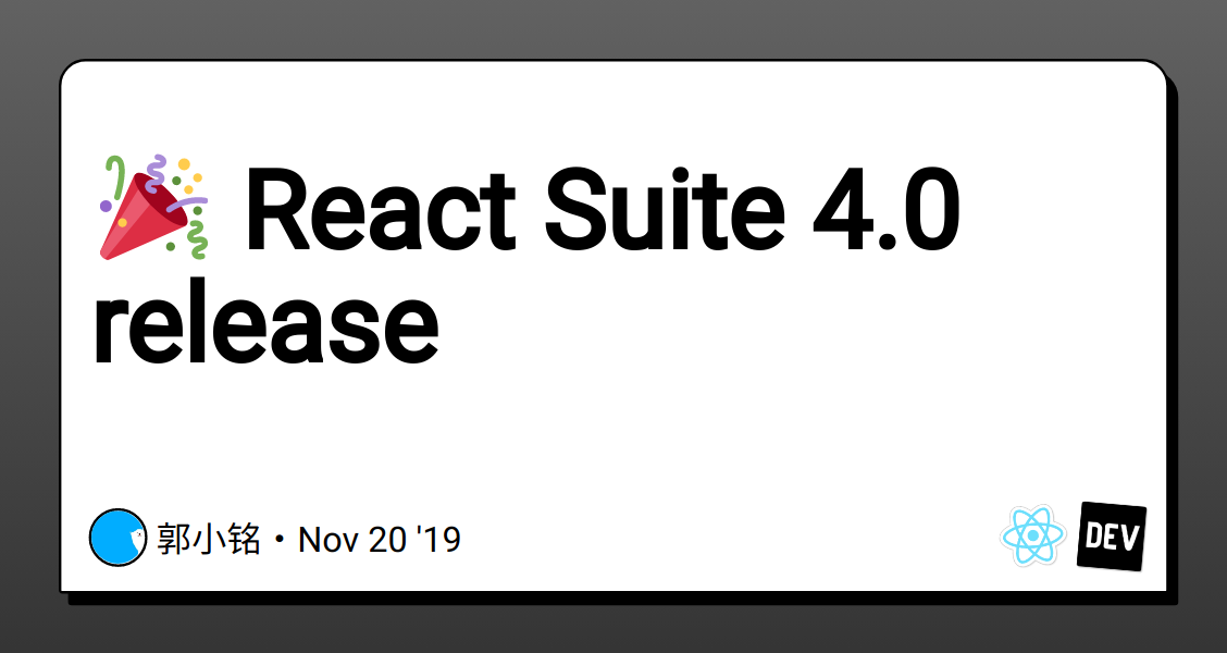React cover image