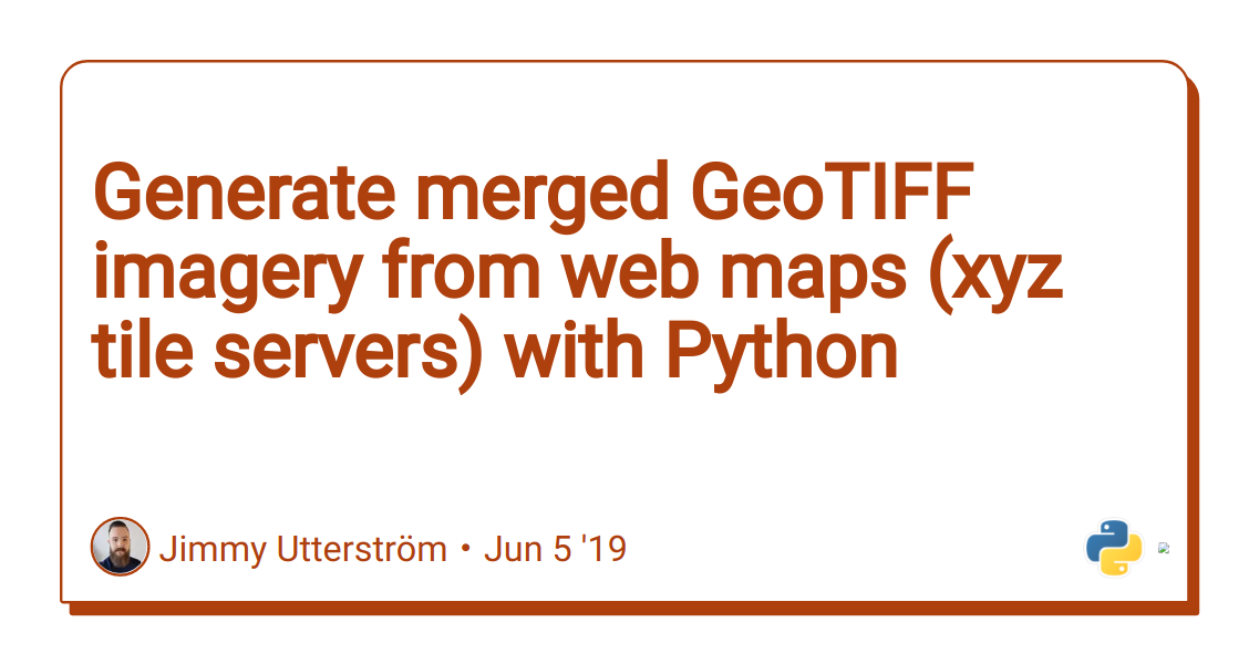 Discussion of Generate merged GeoTIFF imagery from web maps