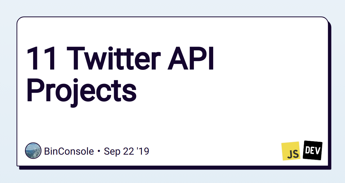 11 Twitter API Projects