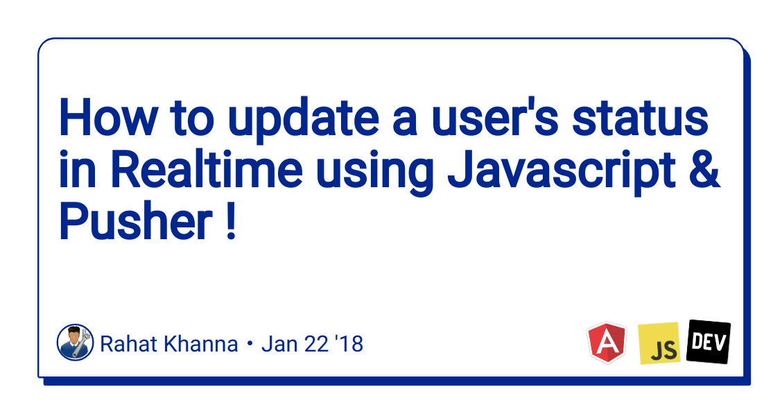How to update a user's status in Realtime using Javascript